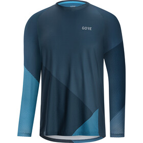 GORE WEAR C5 Trail Maillot Manga Larga Hombre, deep water blue/dynamic cyan